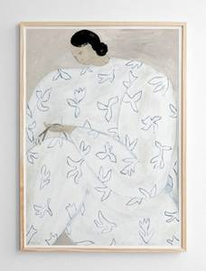 Bilde av Fine Little Day - White Flower Poster 50x70