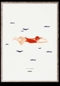 Bilde av Paper Collective - Sally the Swimmer - 50x70